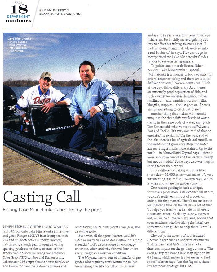 Lake Minnetonka Fishing Guides in Lake Minnetonka Magazine